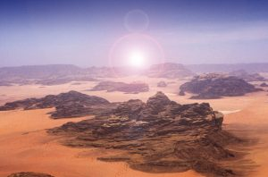 The spectacular landscape of Wadi Rum