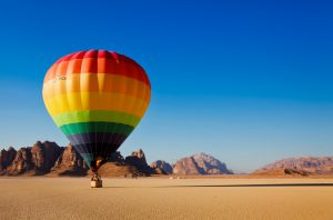 Hot air balloon in Wadi Rum