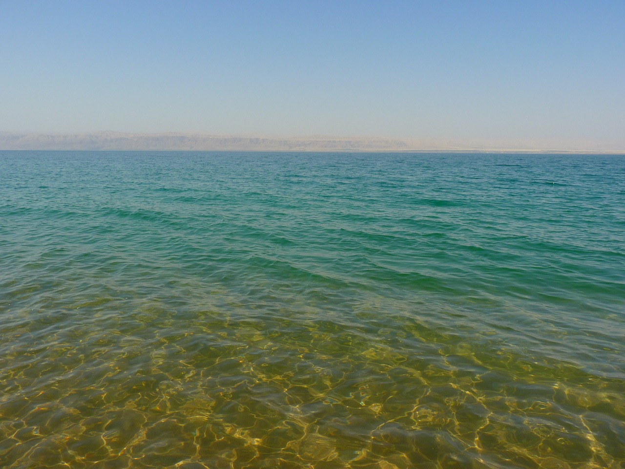 Relaxing at the Dead Sea in Jordan