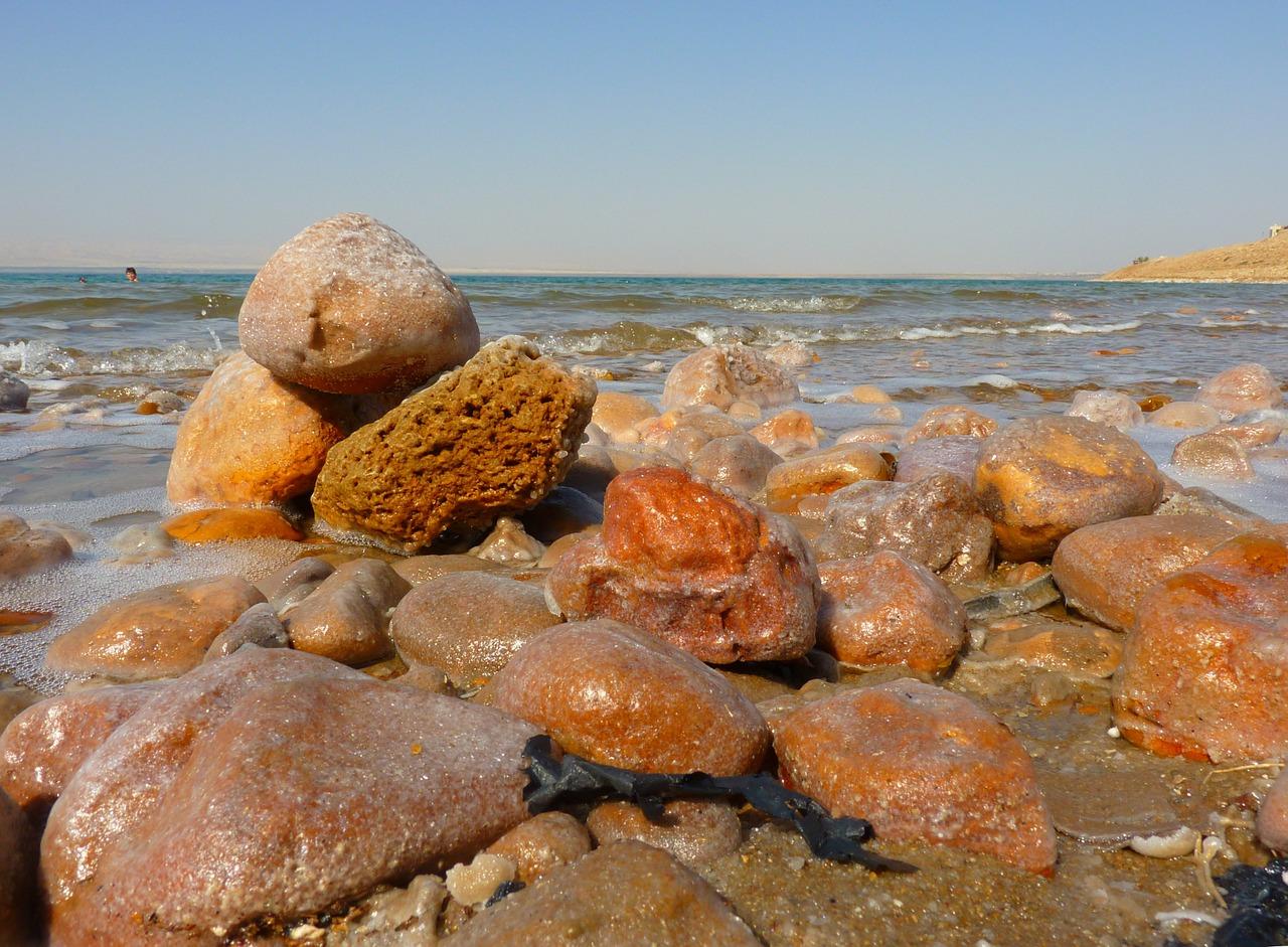 A beach by the Dead Sea