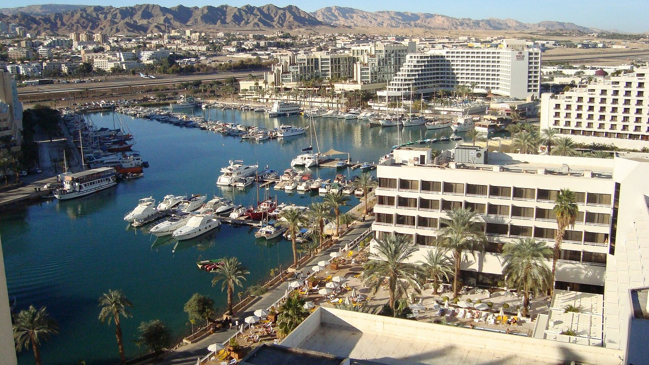 Eilat in Israel by the Red Sea