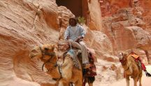 Take a package tour of Jordan to visit sites like Petra