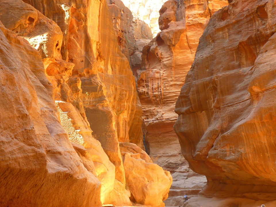 The Siq Canyon in Petra